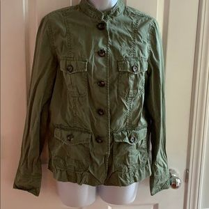 Banana Republic army green utility jacket blazer M